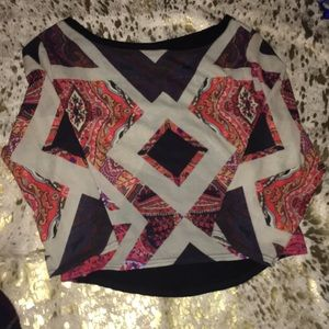 Zara cropped top paisley pattern size small